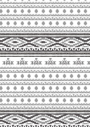 Native American pattern mono