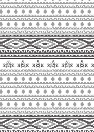 Native American pattern mono