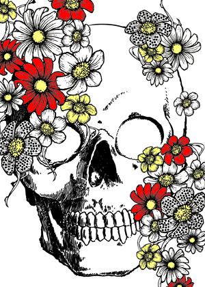Skull n flowers