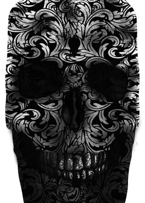 Skull paisley