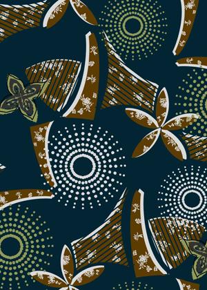 Oriental flower pattern